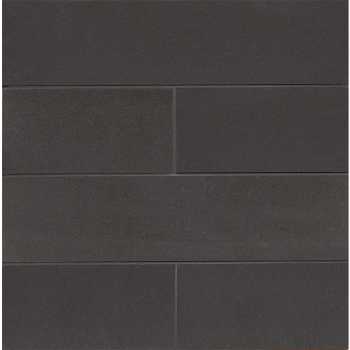 "Absolute Black 3"" x 12"" x 3/8"" Floor and Wall Tile"