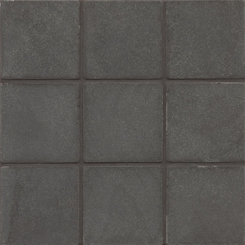 "Absolute Black 4"" x 4"" x 3/8"" Floor and Wall Tile"