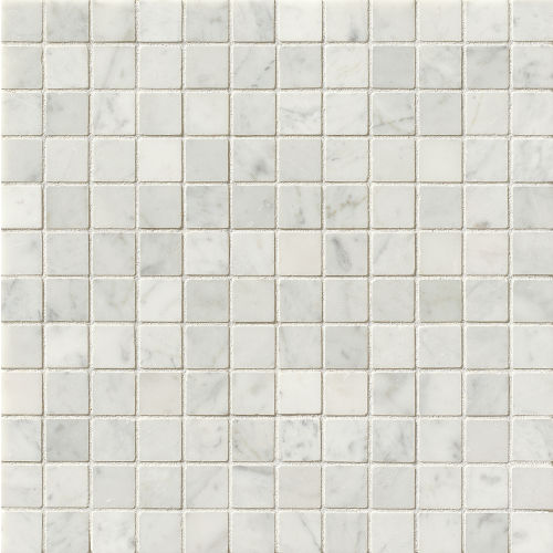 "White Carrara 1"" x 1"" Floor & Wall Mosaic"