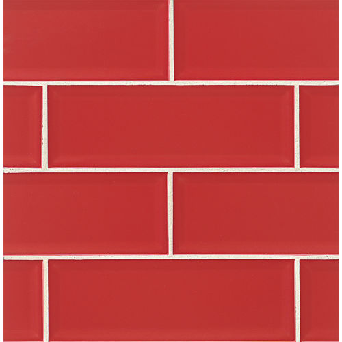 "Adamas 4"" x 12"" x 3/8"" Wall Tile in Ruber"