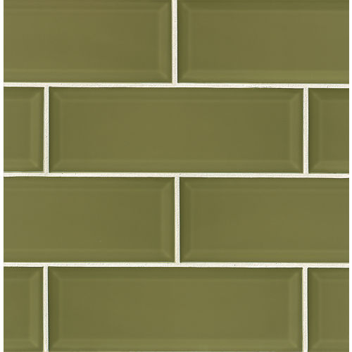 "Adamas 4"" x 12"" x 3/8"" Wall Tile in Viridis"