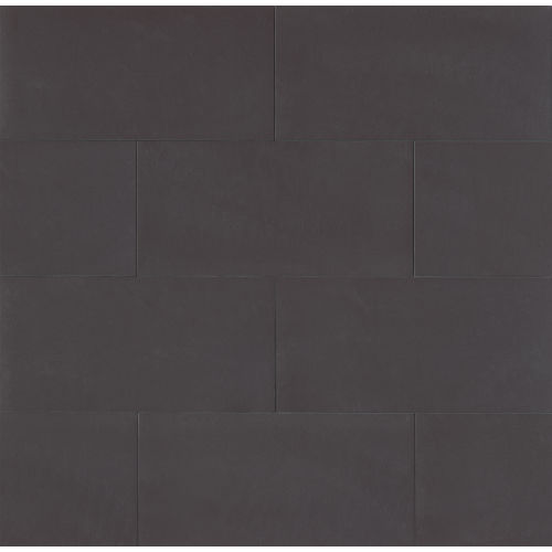 "Area 3D 12"" x 24"" x 3/8"" Floor and Wall Tile in Deep Black"