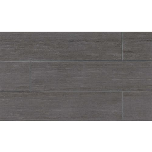 "City 2.0 8"" x 48"" Floor & Wall Tile in Asphalt"