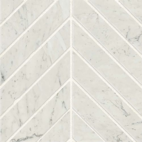 "Classic 2.0 2"" x 2"" Floor & Wall Mosaic in Bianco Carrara"