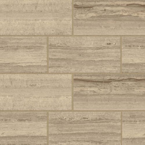 "Classic 2.0 12"" x 24"" x 3/8"" Floor and Wall Tile in Travertino Chiaro"