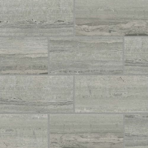 "Classic 2.0 12"" x 24"" x 3/8"" Floor and Wall Tile in Travertino Grigio"