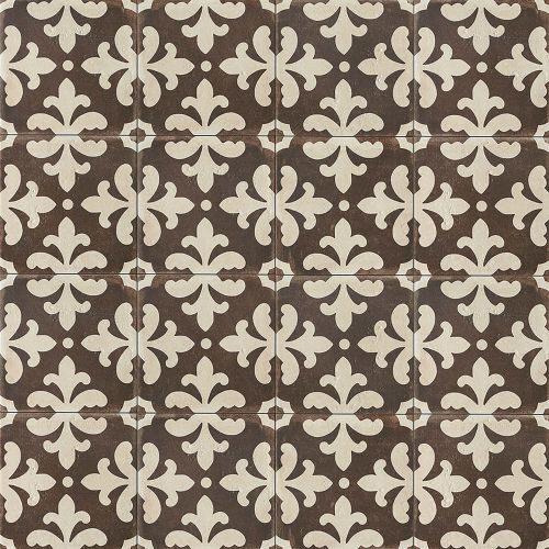 "Palazzo 12"" x 12"" Decorative Tile in Antique Cotto Florentina"