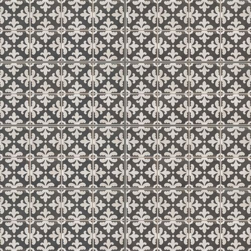 "Palazzo 12"" x 24"" Decorative Tile in Castle Graphite Florentina"