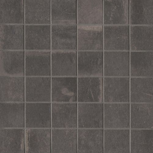 "Palazzo 2"" x 2"" Floor & Wall Mosaic in Castle Graphite"