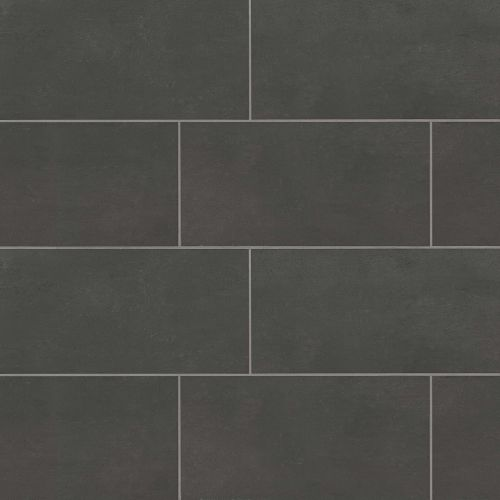 "Simply Modern 12"" x 24"" Floor & Wall Tile in Black"