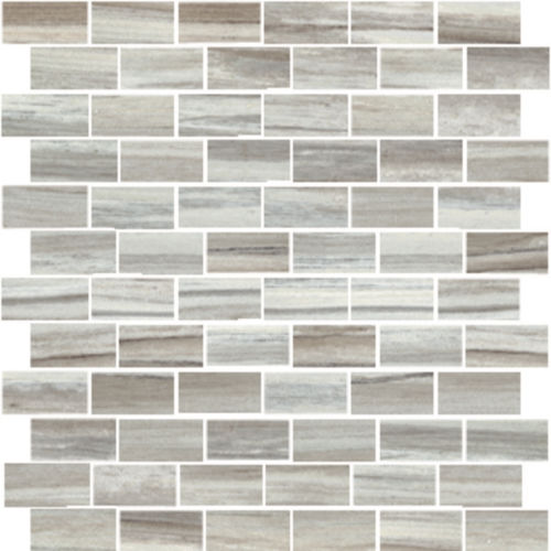 "Zebrino 1"" x 2"" Floor & Wall Mosaic in Bluette"
