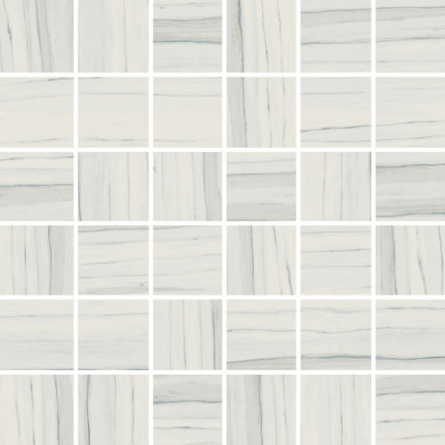 "Zebrino 2"" x 2"" Floor & Wall Mosaic in Michelangelo"