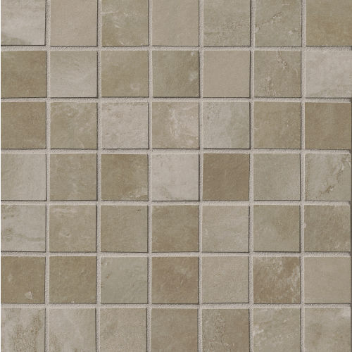 "Cemento 1-1/2"" x 1-1/2"" Floor and Wall Mosaic in Titan"