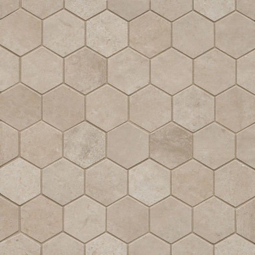 "Clive 2"" x 2"" Floor & Wall Mosaic in Beige"