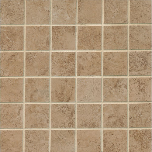 "Fantasia 2"" x 2"" Floor & Wall Mosaic in Taupe"