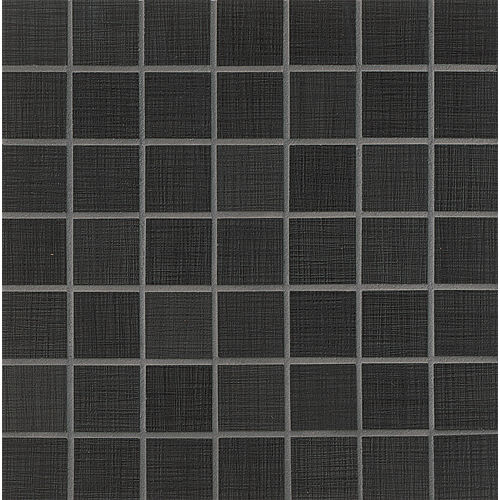 "Linen 1-1/2"" x 1-1/2"" Floor & Wall Mosaic in Ebony"