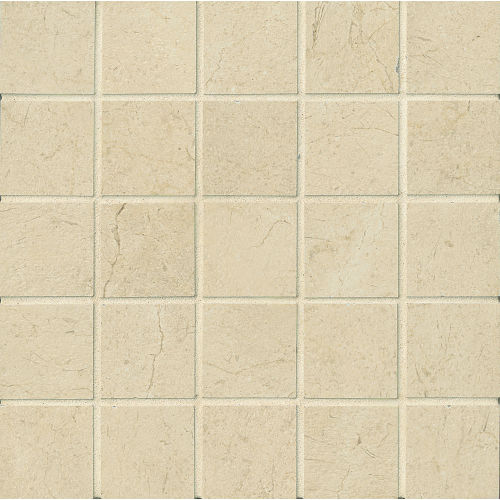 "Marfil 2"" x 2"" Floor and Wall Mosaic in Bianco"