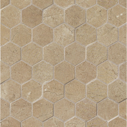 "Marfil 2"" x 2"" Floor and Wall Mosaic in Noce"