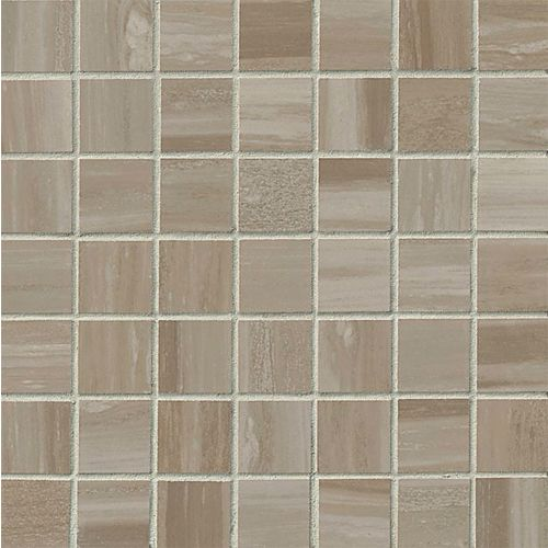 "Rose Wood 1-1/2"" x 1-1/2"" Floor & Wall Mosaic in Taupe"