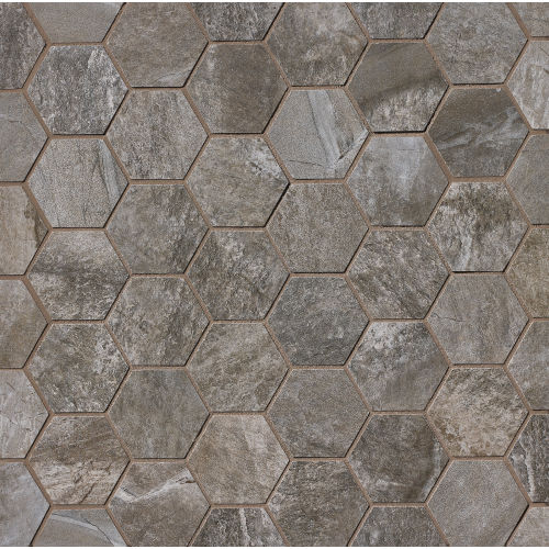 Stone Mountain Floor & Wall Mosaic in Gris