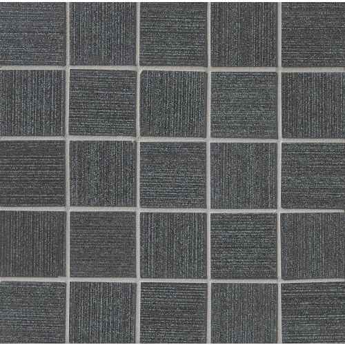 "Strands 2"" x 2"" Floor & Wall Mosaic in Black"