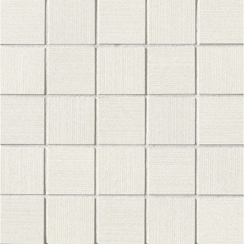 "Strands 2"" x 2"" Floor and Wall Mosaic in White"