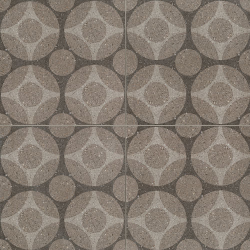 "Terrazzo 20"" x 20"" Decorative Tile in Light Medium Dark Grey"