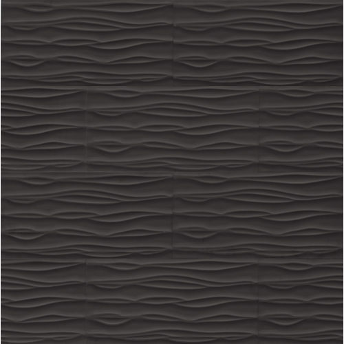 "Wave 12"" x 24"" Wall Tile in Black"