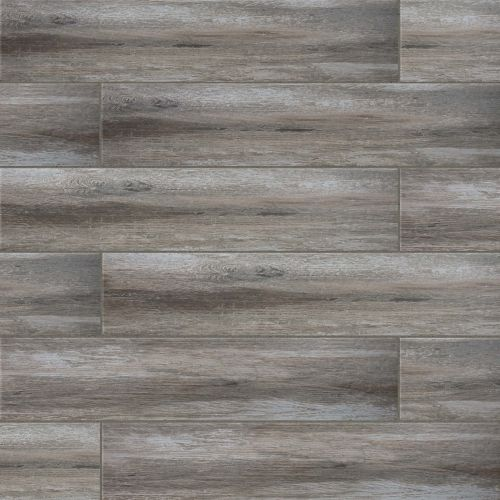"Distressed 8"" x 36"" Floor & Wall Tile in Argento"