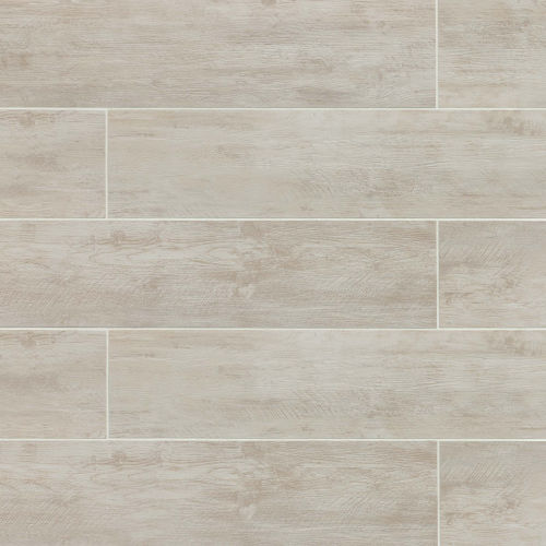 "River Wood 8"" x 48"" Floor & Wall Tile in Blanc"