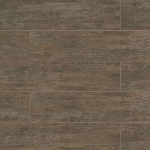 "River Wood 8"" x 36"" Floor & Wall Tile in Walnut"