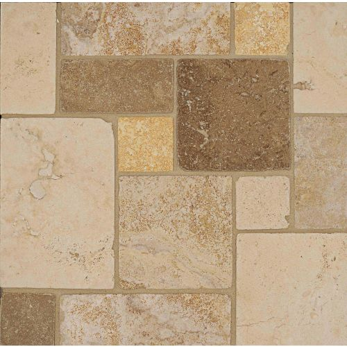 Travertine Mosaic Blend Floor & Wall Mosaic