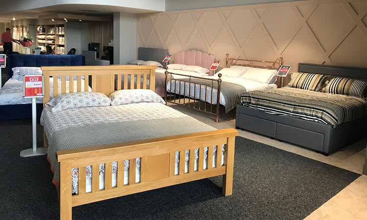 Bed Range at Front of Bedtime Store