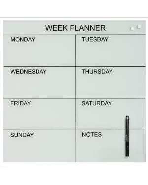 Naga Magnetic Glass Week Planner 45x45cm