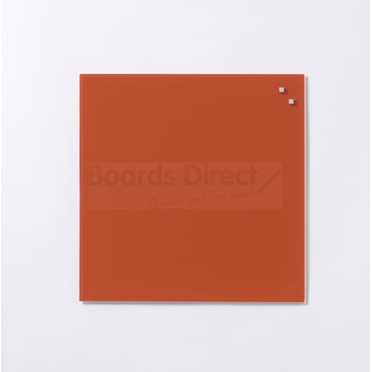 NAGA Magnetic Glass Noticeboard TOMATO RED 45 x 45cm