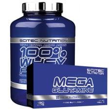 100% Whey Protein + GRATIS Mega Glutamin