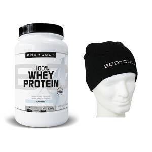 100% Whey Protein + Gratis Haube