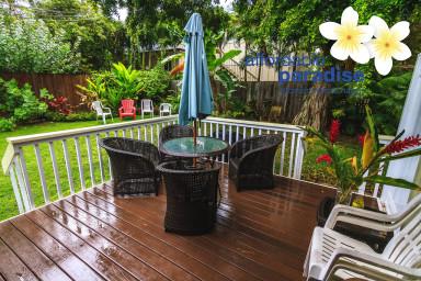 2 bedroom 1 1/2 bath Kalaheo Beach House located in beach lane, AC