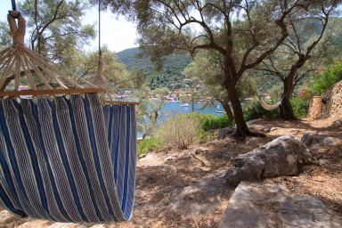 Hammock for extra relaxation in the shadow near the sea