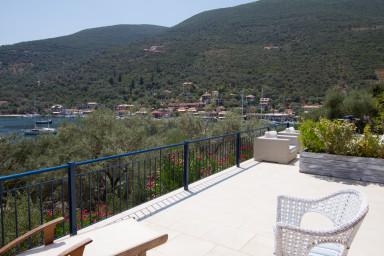 Blue bedroom terrace