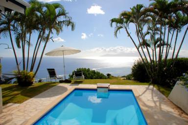 Villa Tiare - Tahiti - vue epoustouflante piscine & jardin - jusqu'à 7 pers