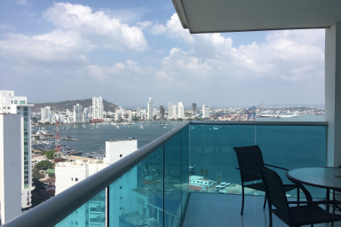 Beautiful Condo with Great Ocean Views Close to the old city Cartagena