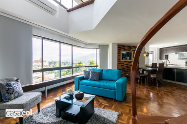 furnished apartments medellin penthouse - Pinar Alto 604 Charming 2 level Penthouse