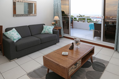 Blue One unit - Papeete - sea view - 1 bedroom - clim & WiFi - pool - 4 per