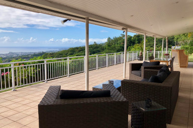 Villa Pamatai - Tahiti - vue mer panoramique - piscine - 6 pers