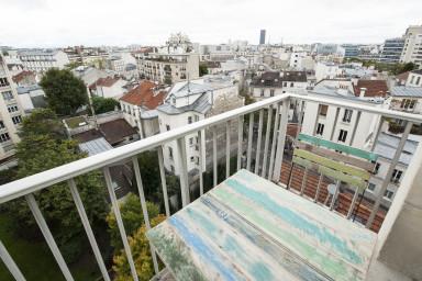 T2 de design, avec balcon et vue sur Paris