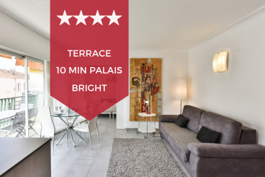 KIKILOUE -✌️ DEAD CENTER OF CANNES✌️ With terrace - 10 min-walk to Palais!