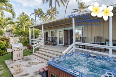 Kailua Ohana Escape - secluded 3 bedroom - 3 bath-  Beach house with Spa
