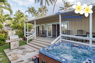 Kailua Ohana Escape - secluded 3 bedroom - 3 bath-  Beach house with Spa