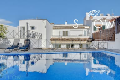 Villa Port Andratx with private saltwater pool, terraces and lawn garden